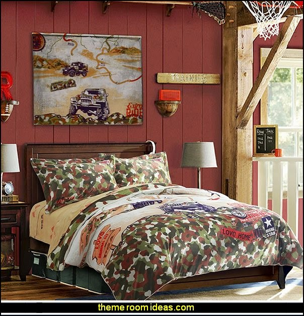 boys theme bedrooms - camo themed rooms - sports themed bedrooms - boys rooms