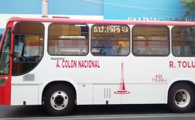 Autobús, pasajeros, colon, nacional