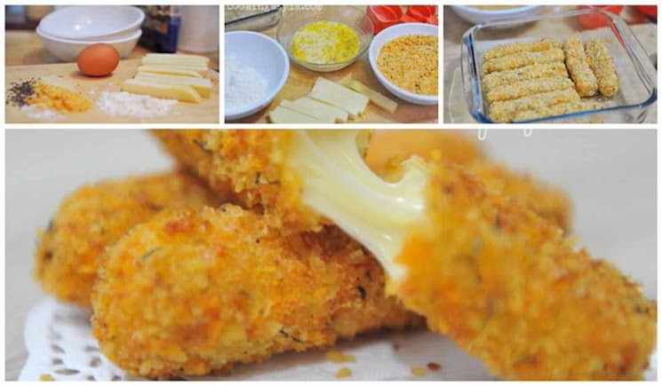 Mozzarella Sticks Yang Renyah di Luar dan Melumer di Mulut
