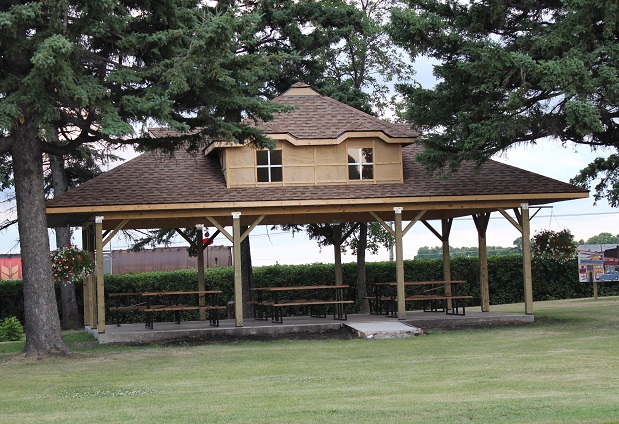Picnic shelter in park