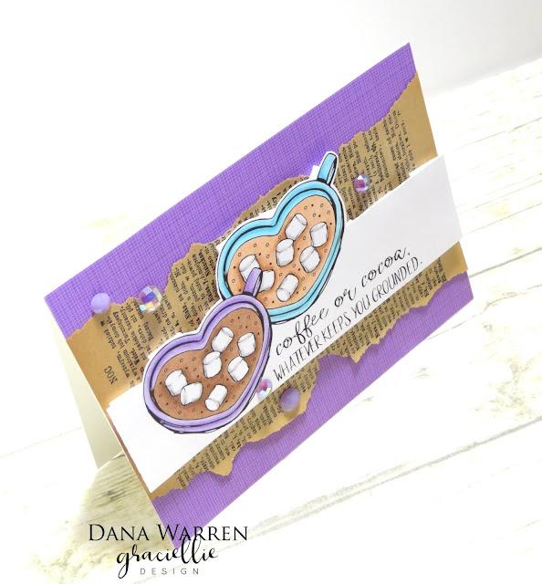 Dana Warren - Kraft Paper Stamps - Graciellie Designs - Spectrum Noir Tri-Blend