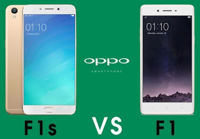 Oppo F1s dan Oppo F1