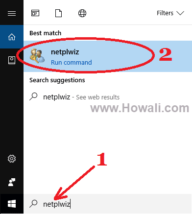 remove login password windows 10