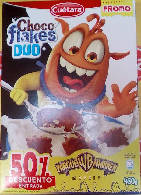 Descuento 50% Parque Warner Choco Flakes Duo