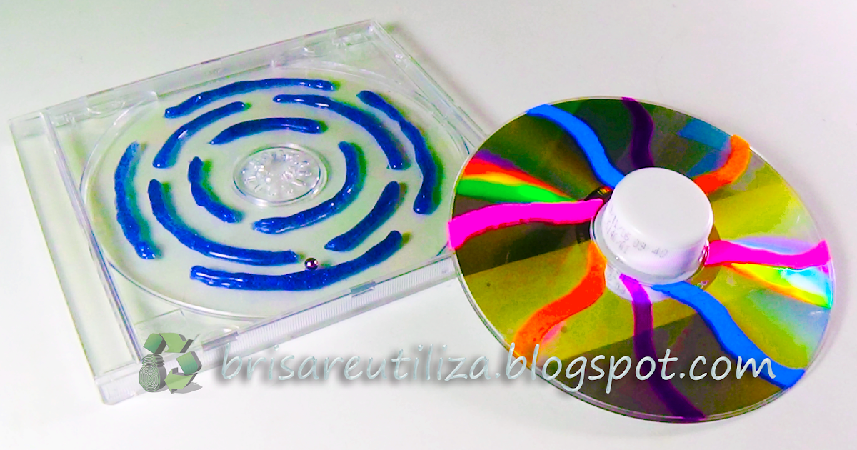 Ecobrisa reciclaje juguetes para ni os peque os con cd - Manualidades para ninos reciclaje ...