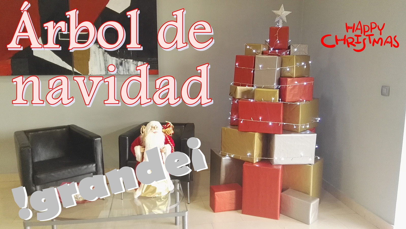 El rinc n de las manualidades caseras rbol de navidad for Arbol de navidad con cajas de carton