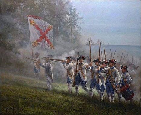 Regimiento Fijo de Luisiana, Pensacola, Florida, Bernardo de Gálvez, Cajigal, España en América