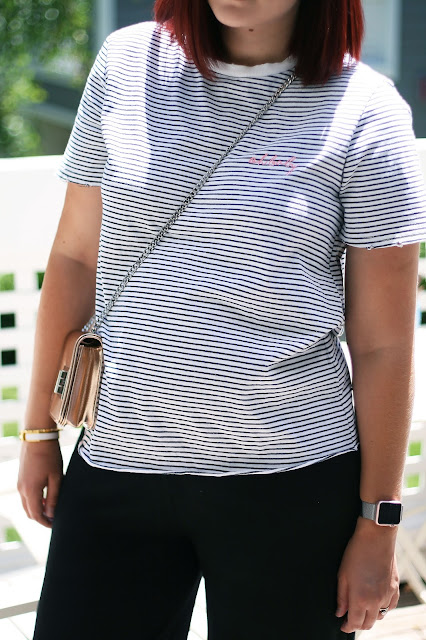Slogan tee, topshop, topshop maternity, fashion, stripe tee, pregnancy blog, pregnancy fashion, casual outfit
