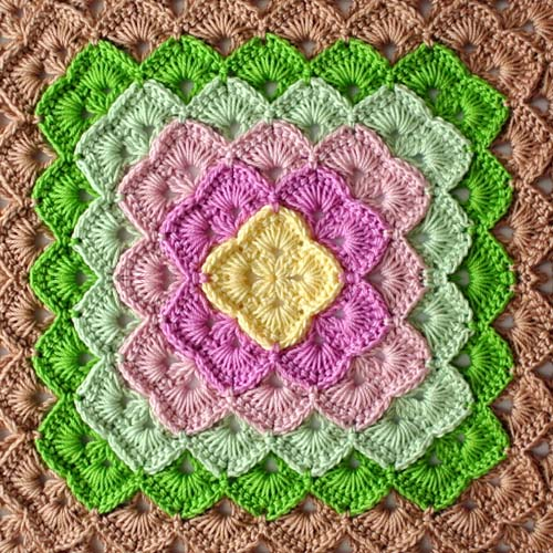 Box Stitch for Square Blanket - Free Pattern
