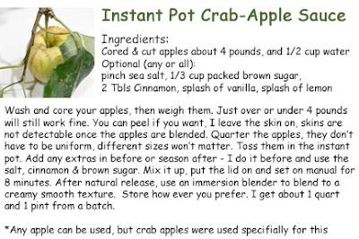 Crab Apple Instant Pot Sauce Bliss-Ranch.com