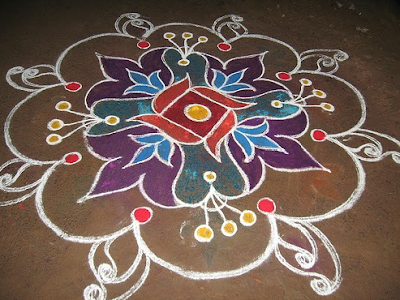 Latest Happy New Year Rangoli Designs Images
