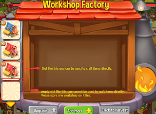 Why can't I use the empty slots in my Workshop Factory?