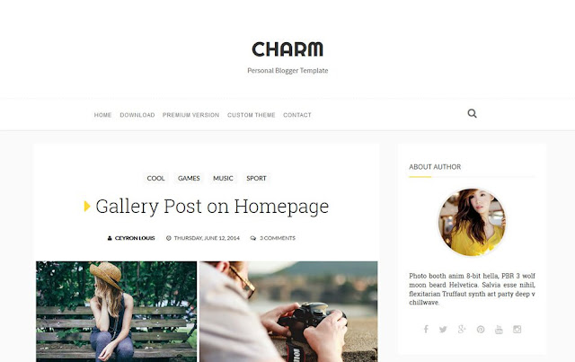 Charm Personal Blogger Template