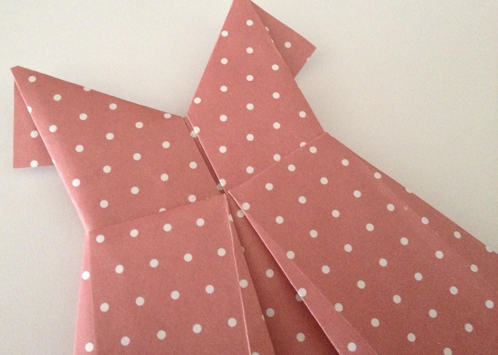 Miércoles Mudo Vestido De Papel En Origami El Blog De Blanqui