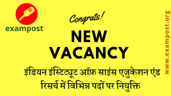 notification-recruitment-indian-institute-science-education-research