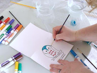 kids paint watercolors without paint use crayola washable markers