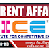 ICE CURRENT AFFAIRS ,WEEK- 37 ,DATE : 09/09/2018 TO 15/09/2018.