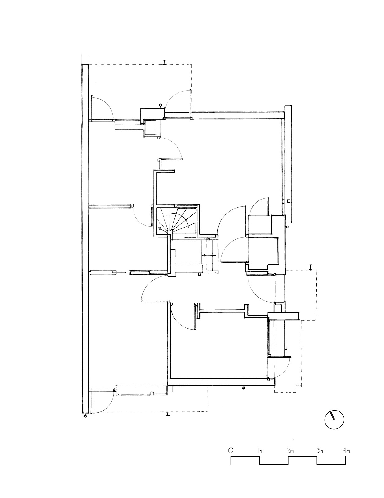 Drawing House Floor Plans: THE RIETVELD-SCHRODER HOUSE: HAND DRAWINGS