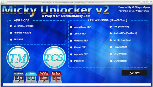 Micky Unlocker Tool V2 All android Frp unlock Tool Free Download
