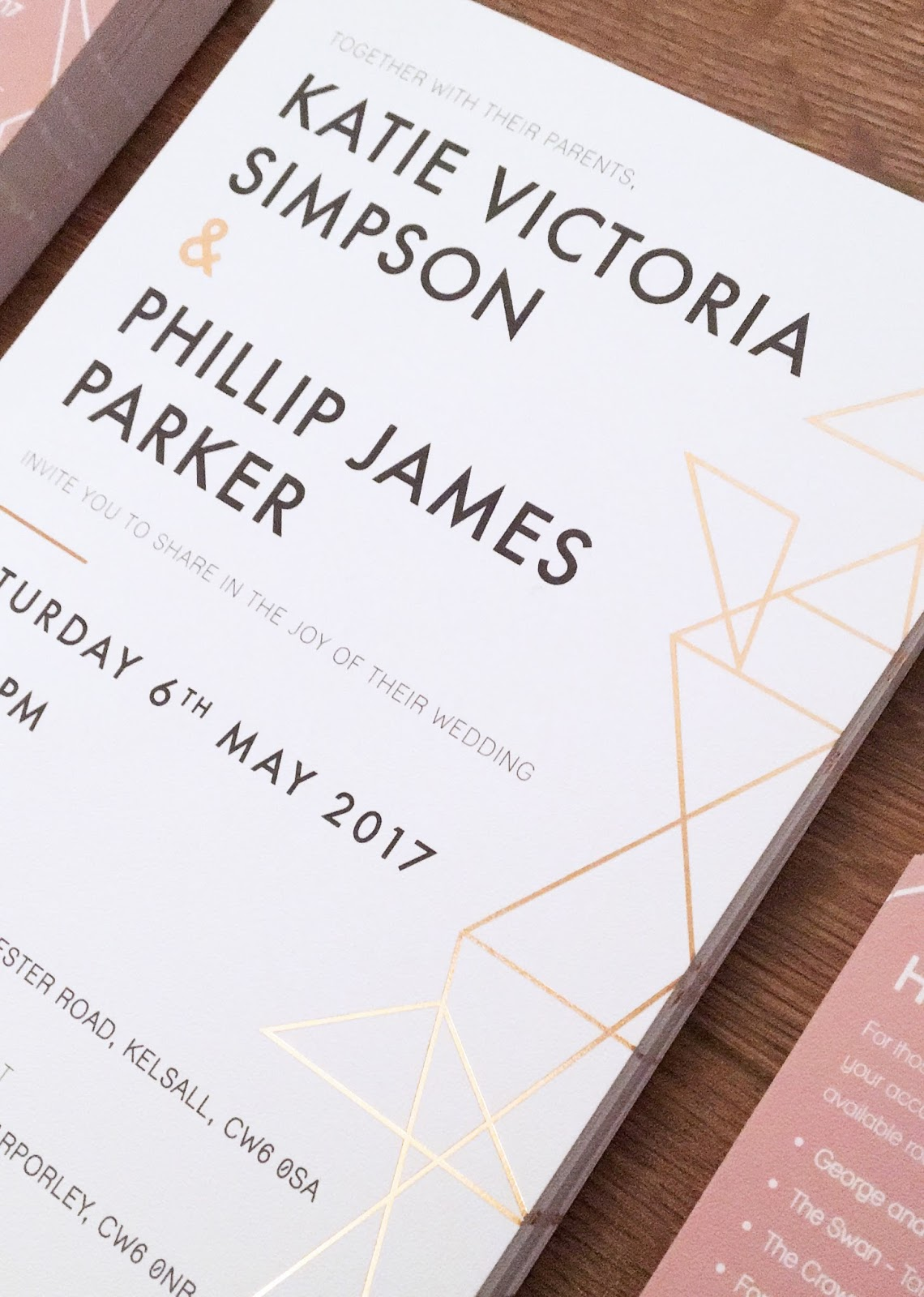 Foil wedding Invitations, perfect for weddings and other special ...