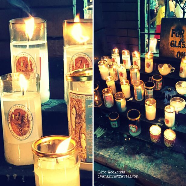 Candles at Our Lady of Manaoag Church