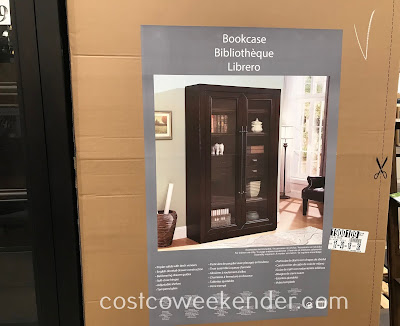Costco 1900109 - Glass Door Bookcase: modern and stylish yet practical