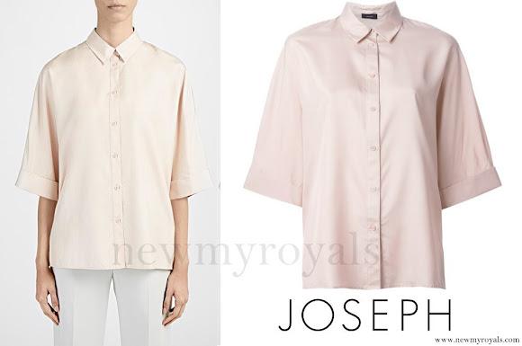 Princess Madeleine wore JOSEPH Pink Kimono Sleeve Shirt