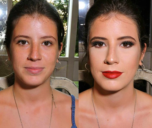 12 фото до и после макияжа