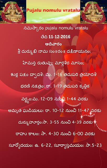 Today's panchangam in Telugu,varaphalau,rasiphalalu