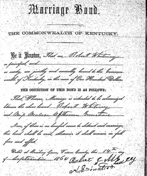 Marriage Records: Frequent Traveler Ancestry: New Finds From Kentucky