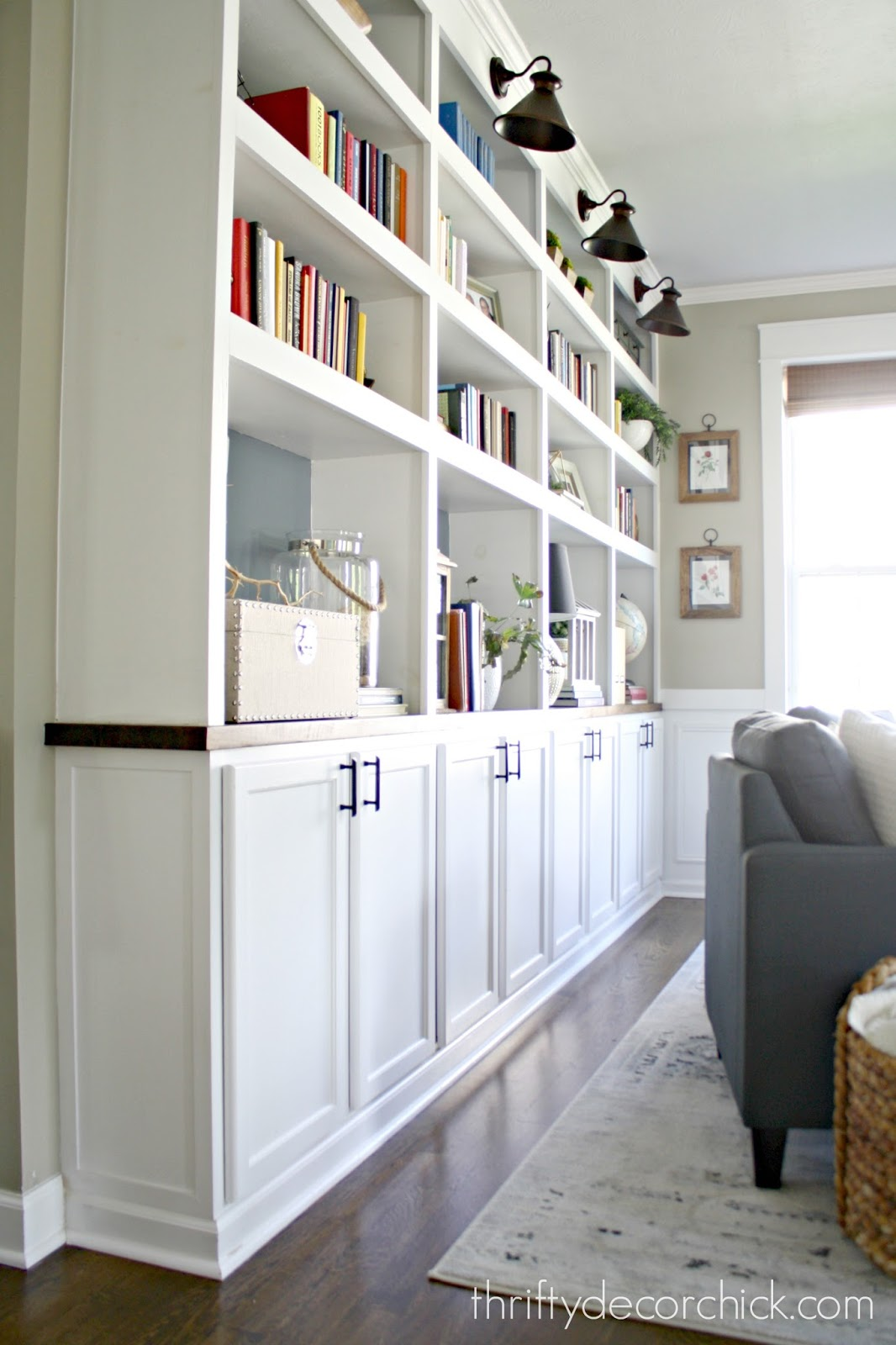 How To Create Custom Built Ins With Kitchen Cabinets From Thrifty Decor Chick