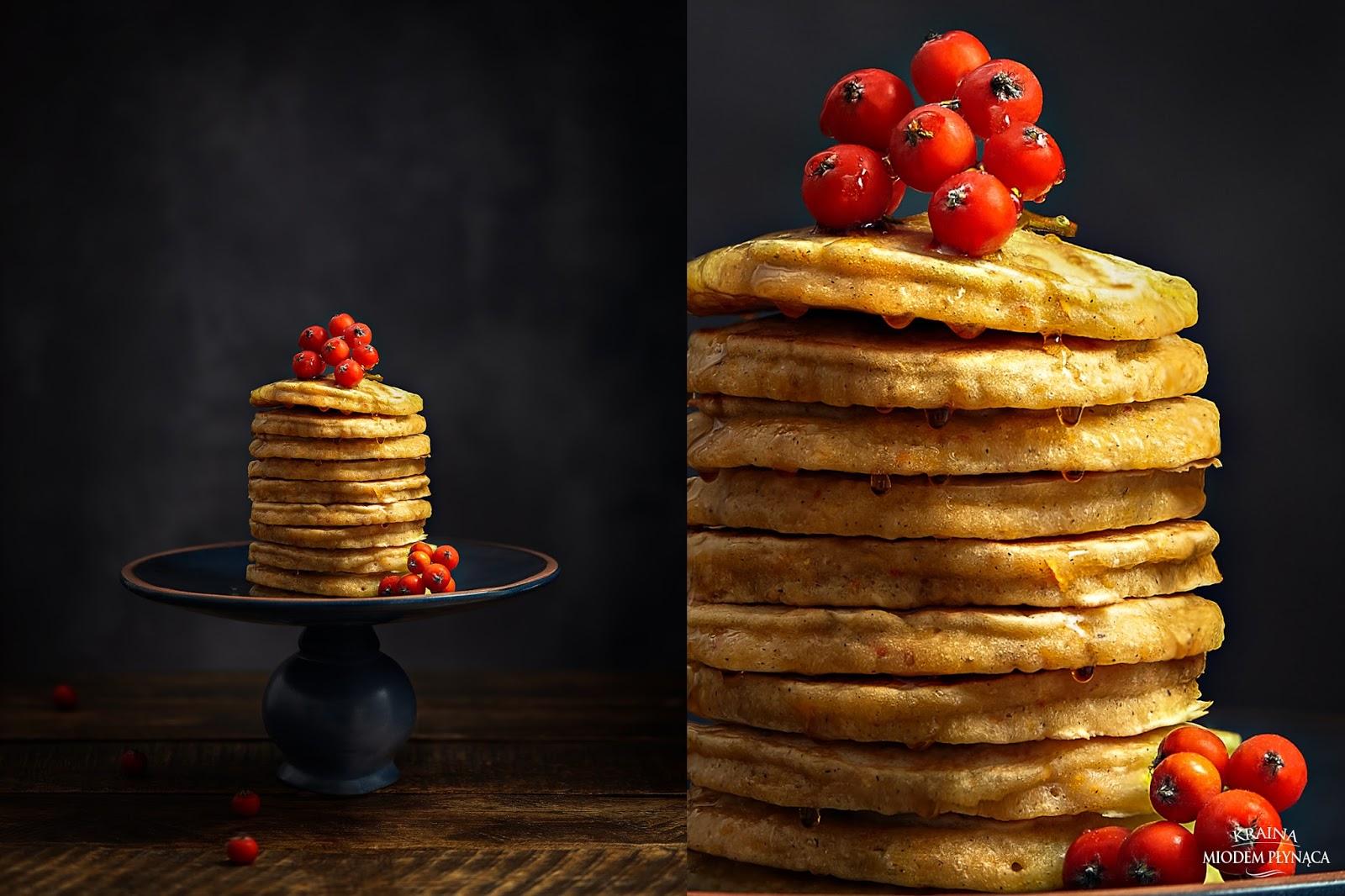 placki z dyni, placki dyniowe, pancakes z dyni, pancakes z dynią, potrawy z dynią, kraina miodem płynąca