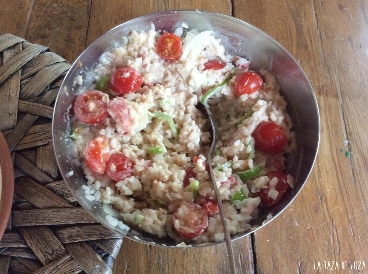 Ensalada de arroz con at n la taza de loza - Ensalada de arroz con atun ...