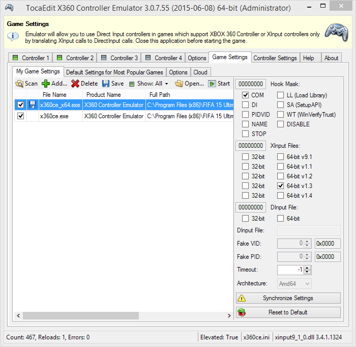 Fix & Tips: Get x360ce Working in FIFA 15