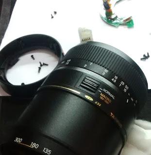 Err01 pada Lensa kamera DSLR