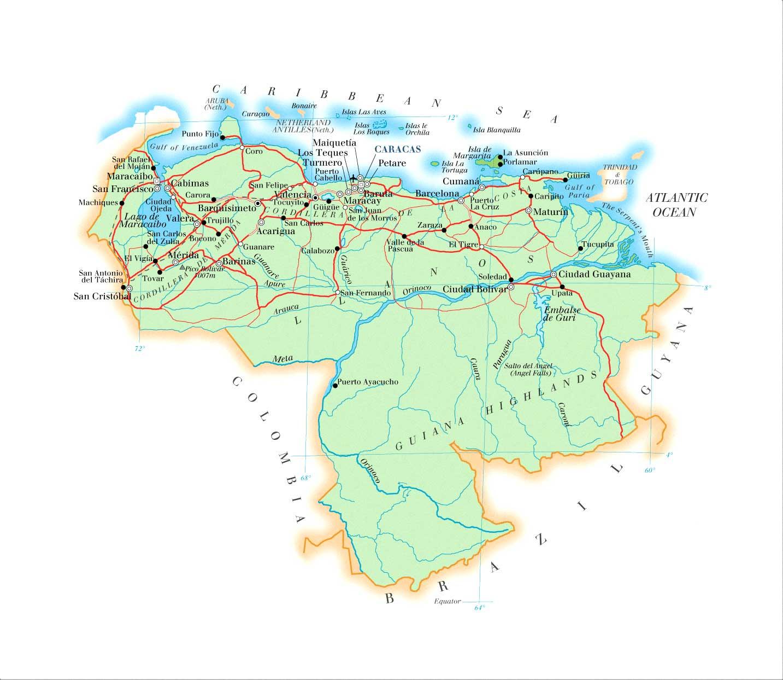 Mapas Geográficos da Venezuela
