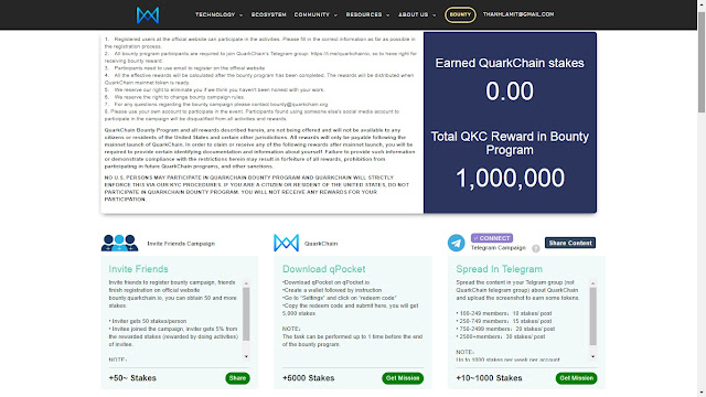 QuarkChain Bounty Task