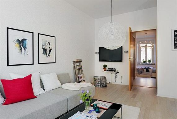 Moderne id e de d core d 39 un appartement de 74 m tres for Decoracion living departamento 2 ambientes