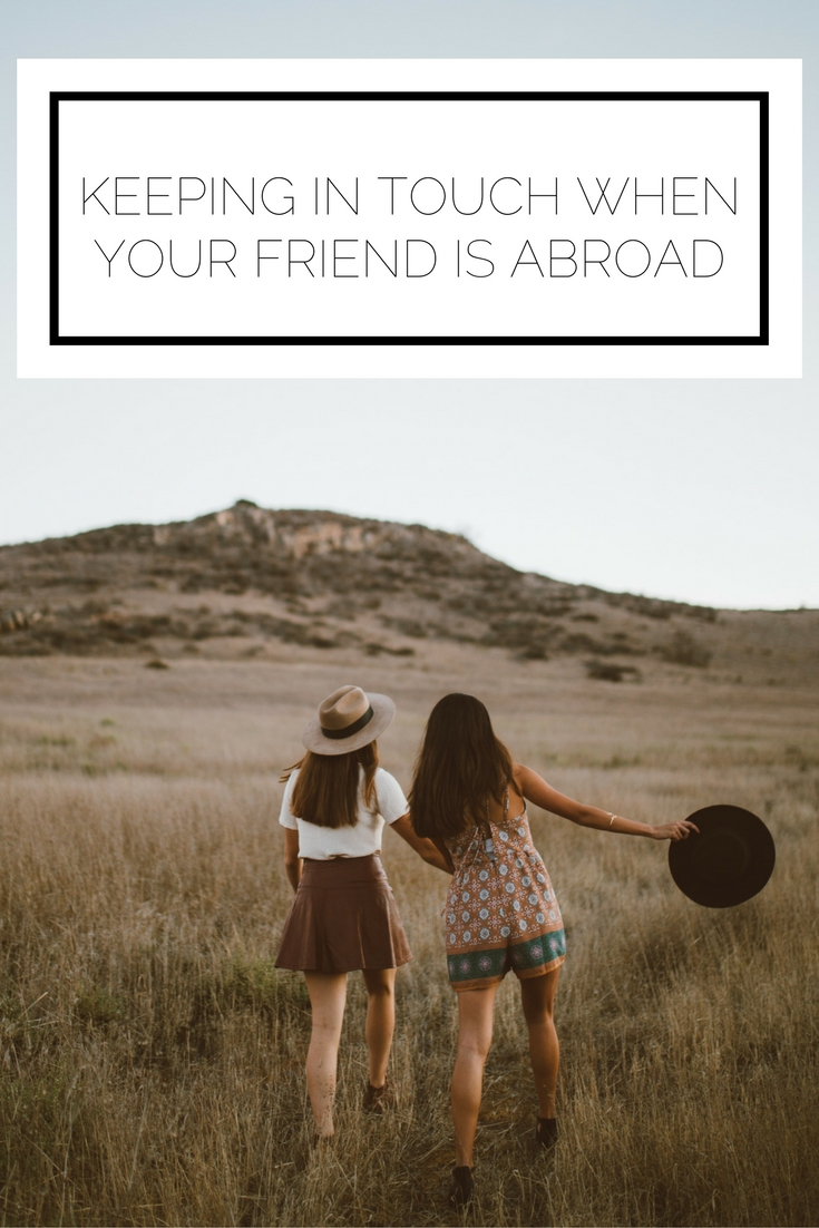Click to read now or pin to save for later! Are you or a friend going abroad? Make sure to think about some of these ways to keep in touch so it'll be like not a moment has passed