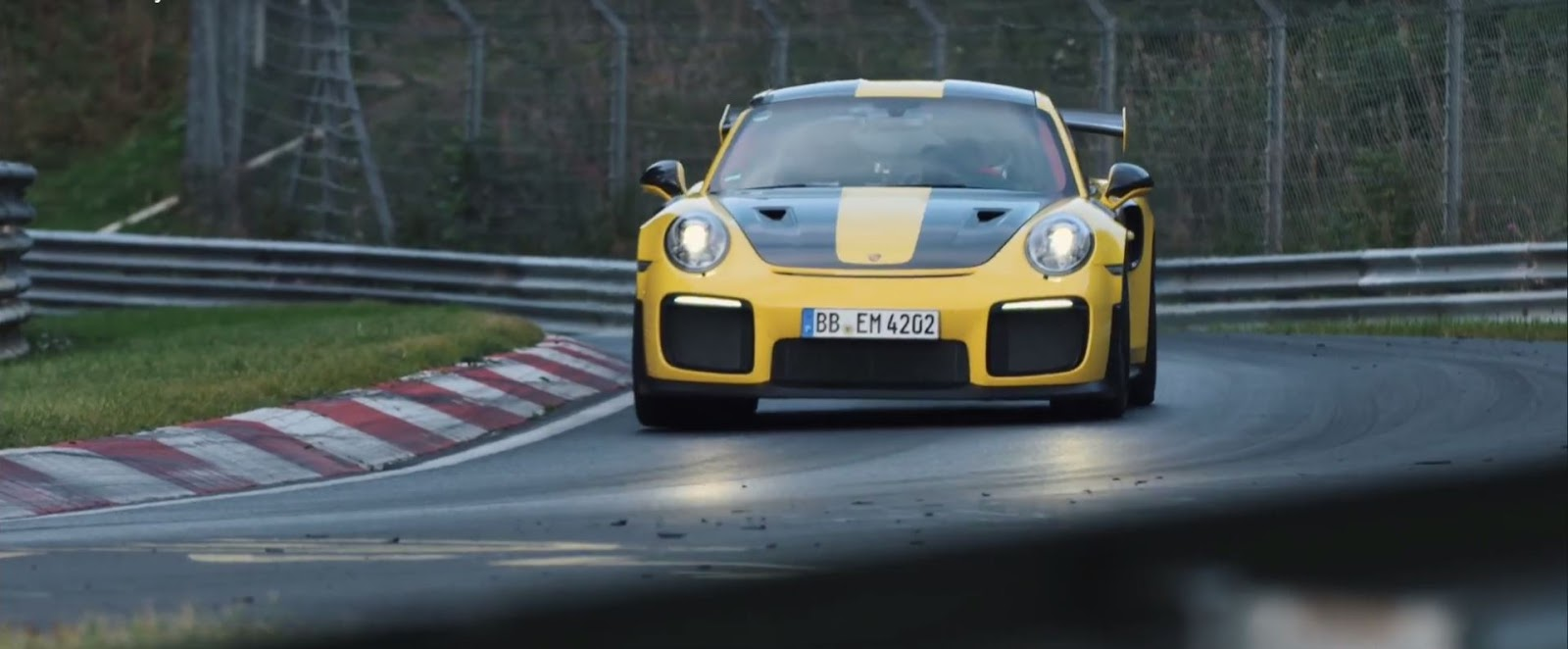 tachometer porsche 911 gt2 rs world record at the n rburgring nordschleife