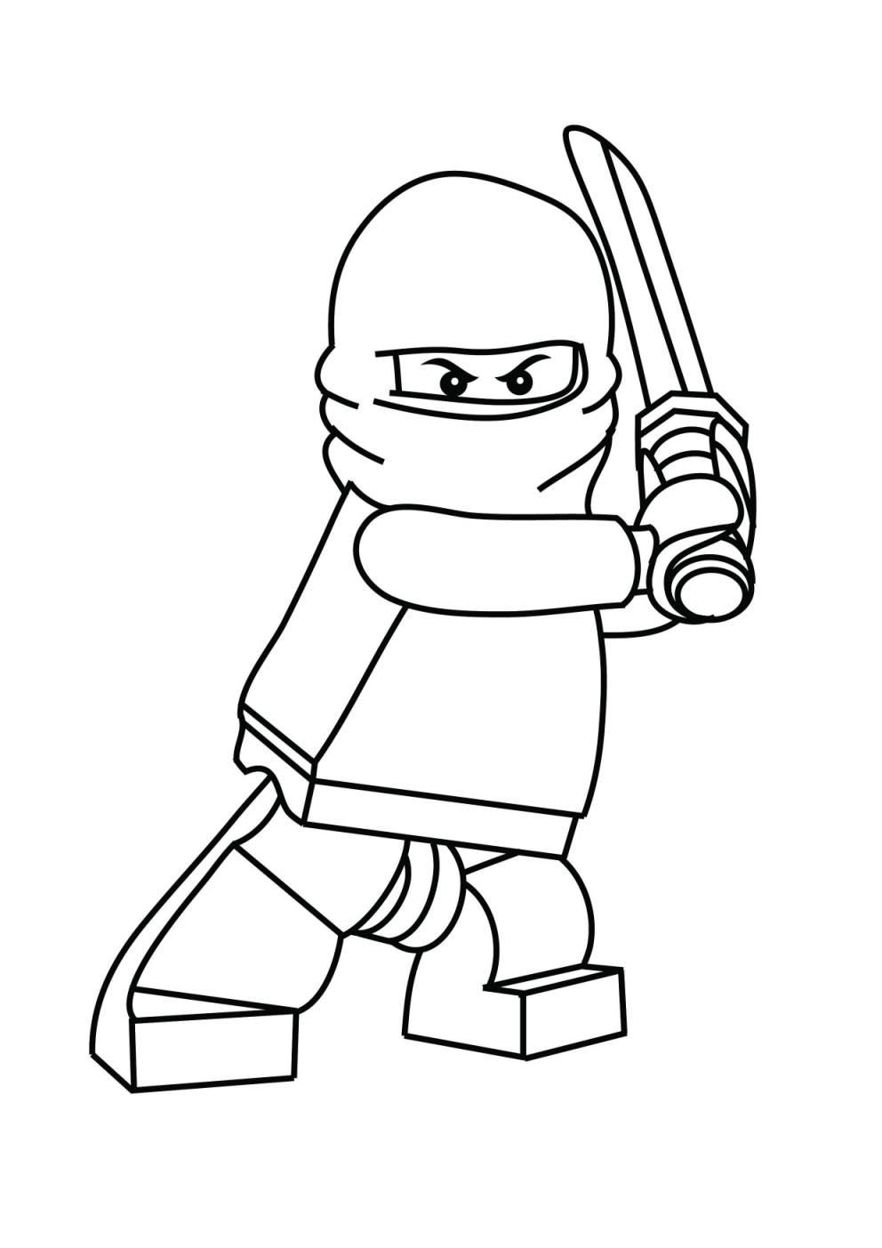Immagini Da Colorare Ninjago Disegno Di Zane Lego Ninjago Da