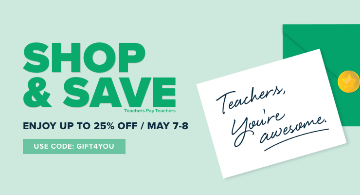 Teacher Appreciation Week sale at Teachers Pay Teachers