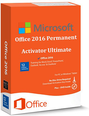 Office 2016 Permanent Activator Ultimate v1.5 poster box cover