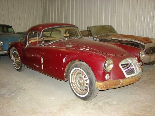 Restoration Project Cars: 1959 MGA Twin Cam Coupe Project