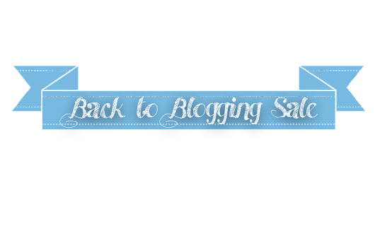 Back to Blogging Sale