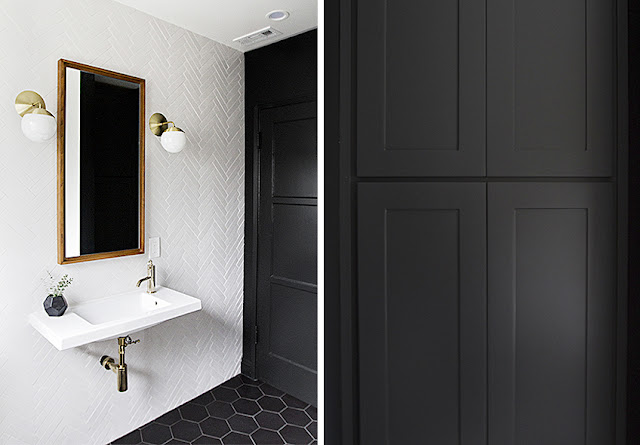 Puertas de baño negras