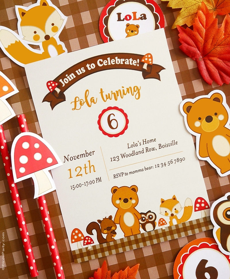 Woodland Birthday Party Ideas Printables