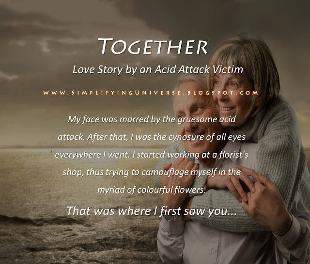 Manas Madrecha, Manas Madrecha blog, love story, simplifying universe, old couple, old love story, love story of old couple, acid attack victim story, love, togetherness, forever love, looks don't matter