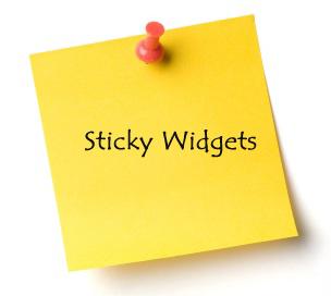 Cara Membuat Sticky Widget Dengan Mudah Di Sidebar Pada Blog