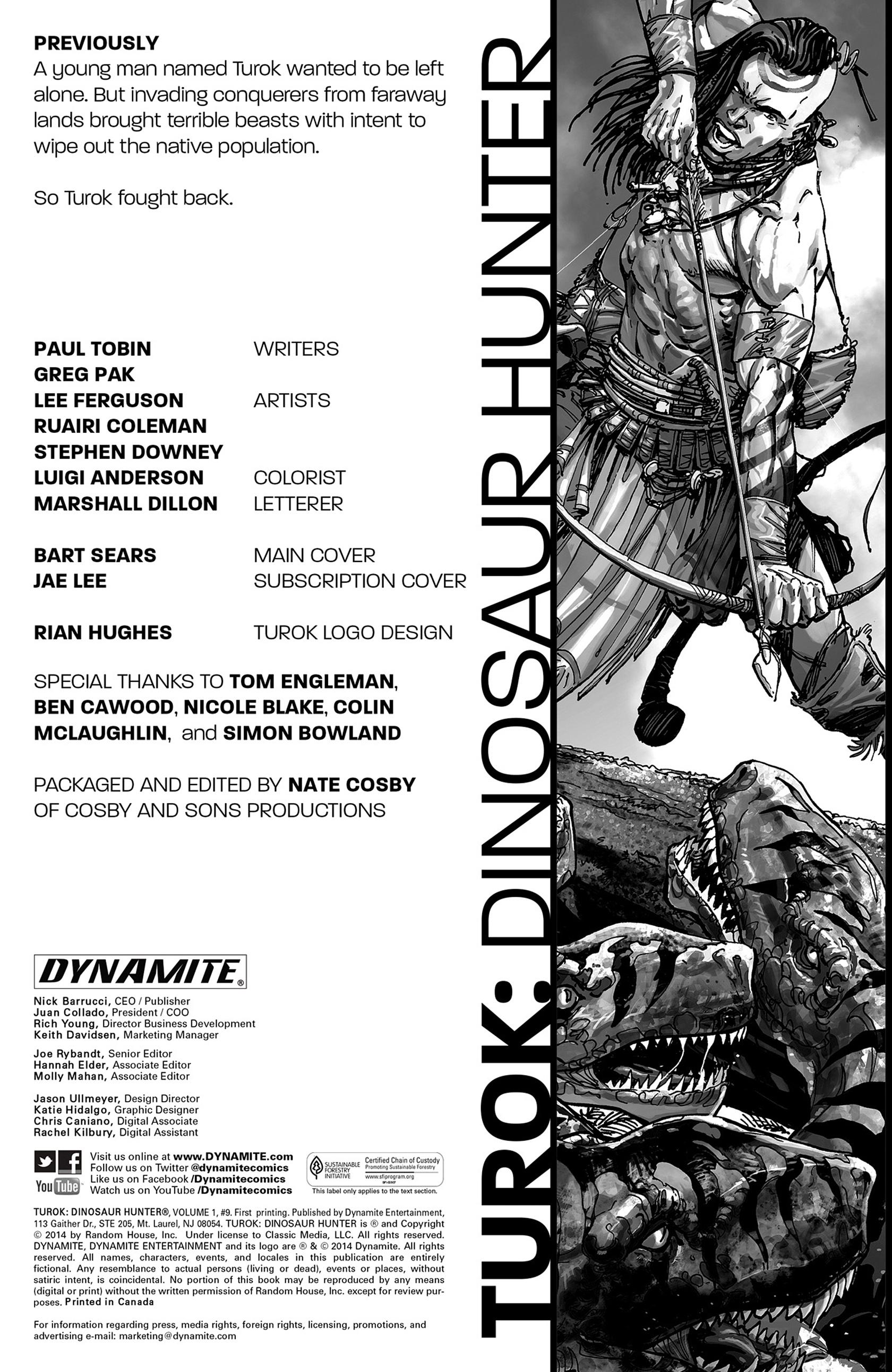 Read online Turok: Dinosaur Hunter (2014) comic -  Issue #9 - 2